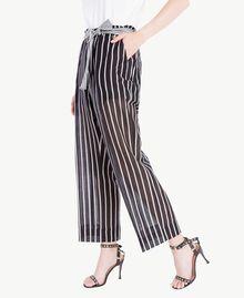 Pantalon imprimé Imprimé Patch Rayure Femme TS82ZN-01