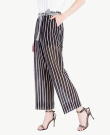 Printed trousers Patch Stripes Print Woman TS82ZN-01