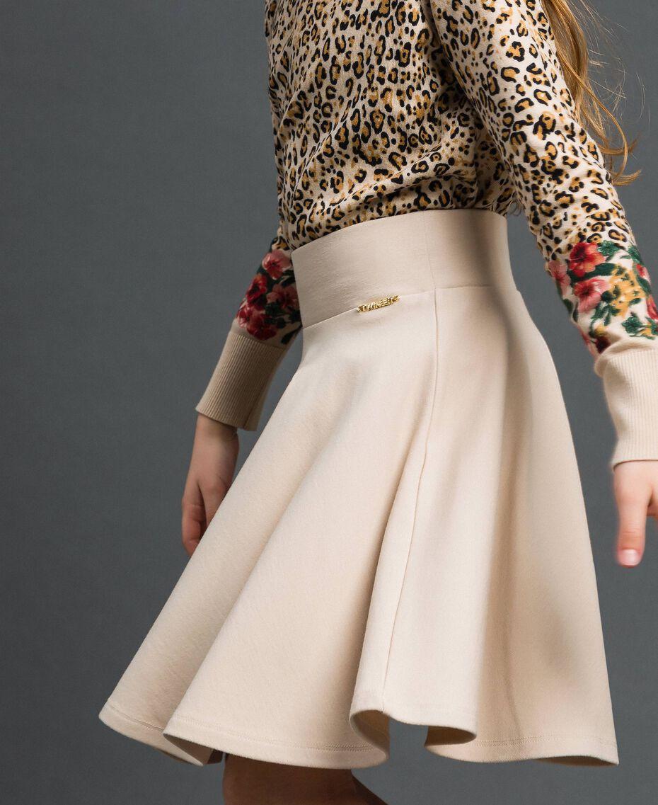 Pleated full skirt Oat Child 192GJ2131-02