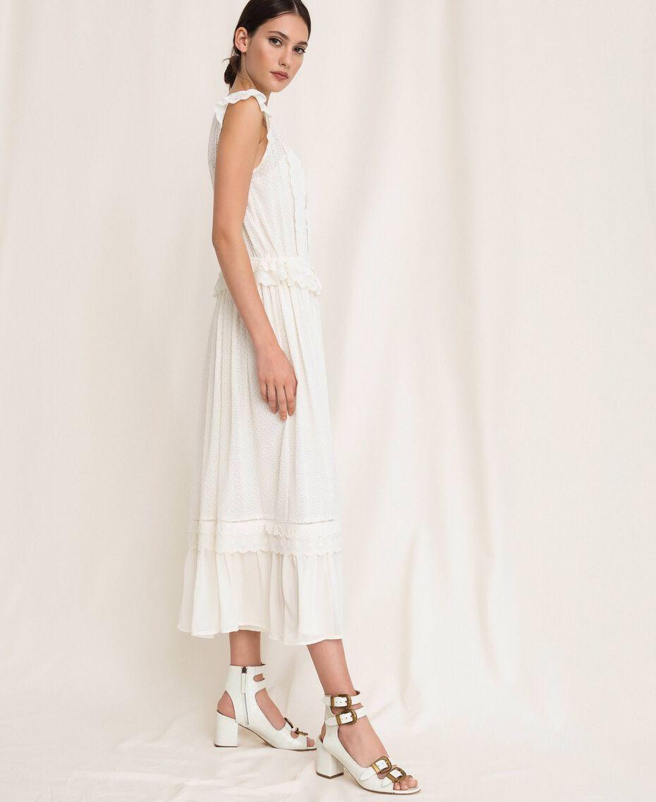 Длинное платье из сангалло Белый Снег женщина 201TP2497-02