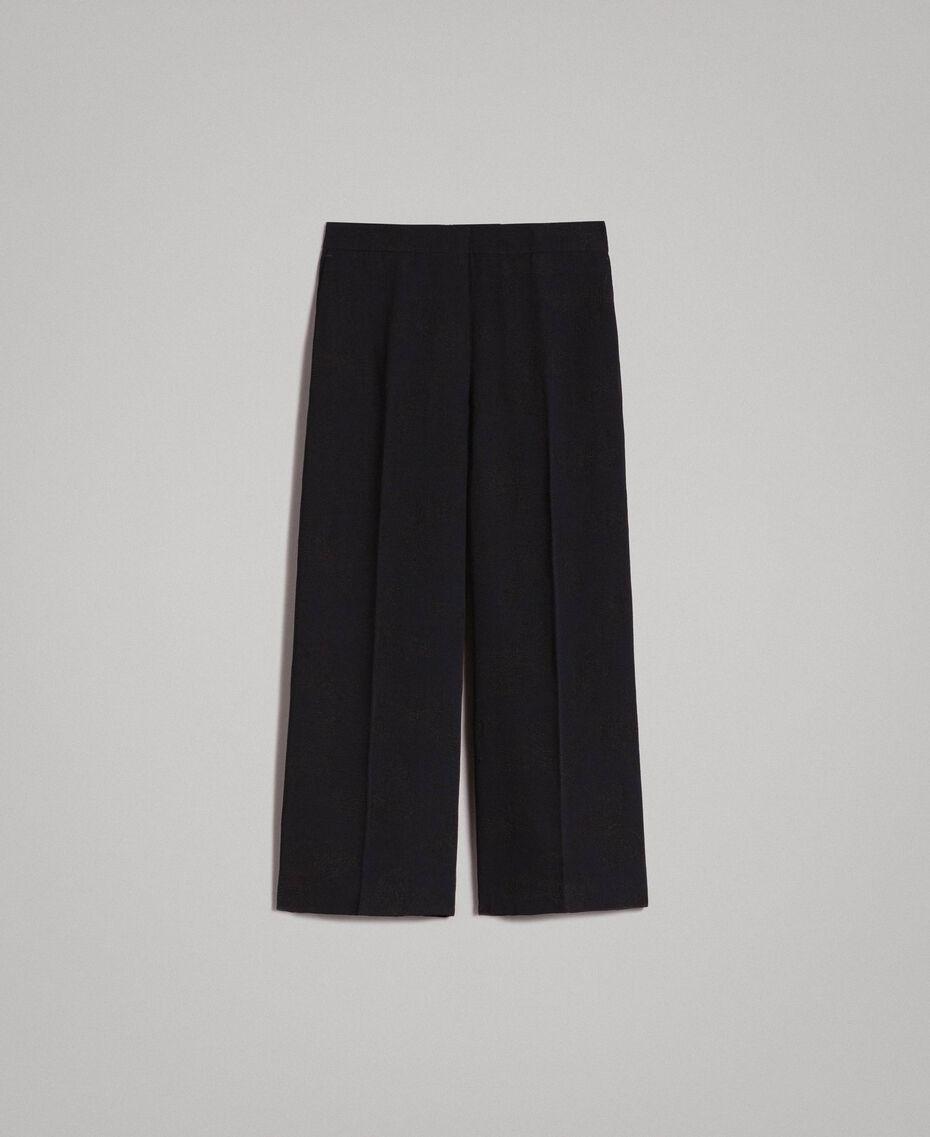 Pantalon avec papillons jacquard Noir Femme 191TT2140-0S