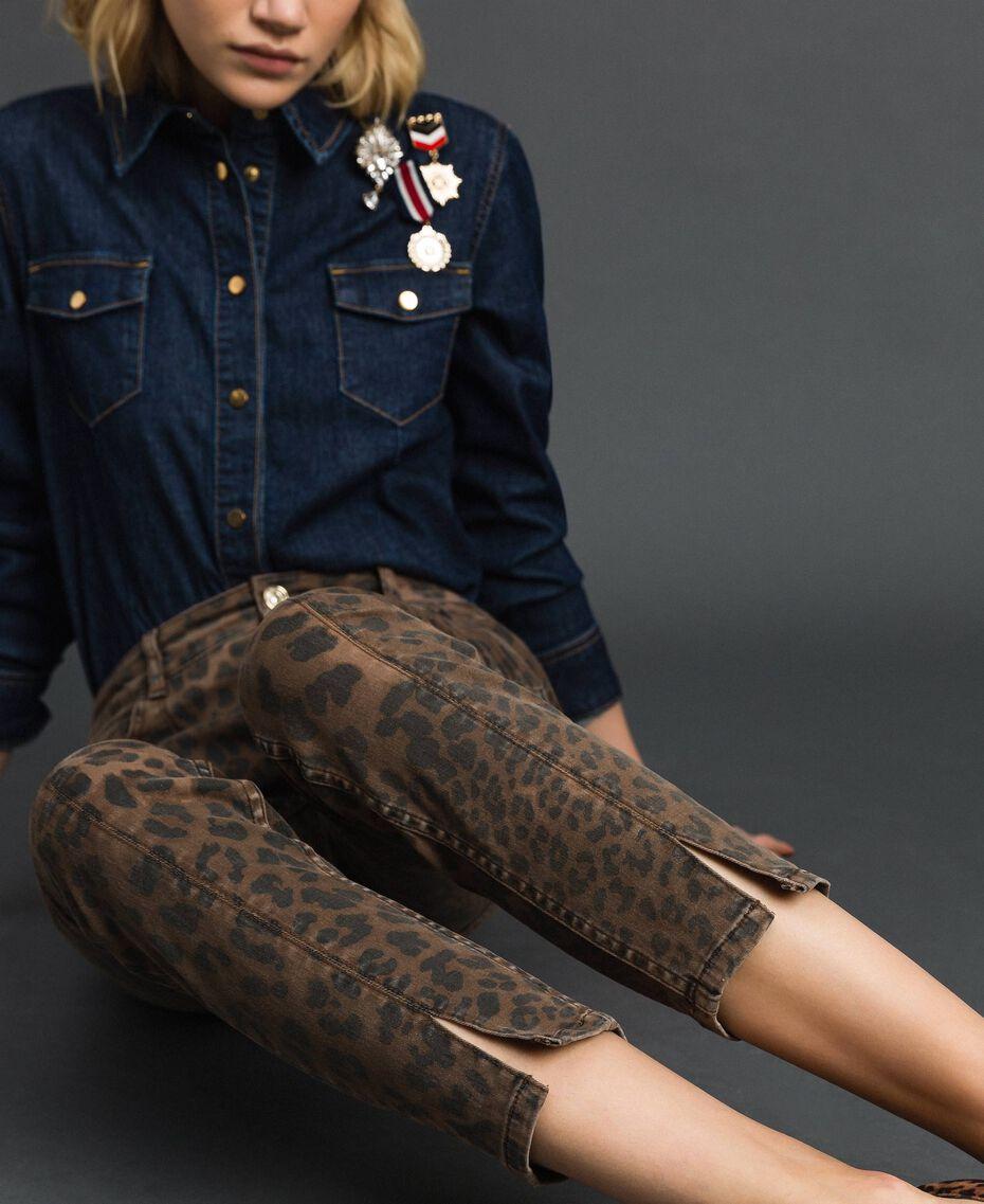 Animal print skinny jeans Animal Print Woman 192MP2211-05