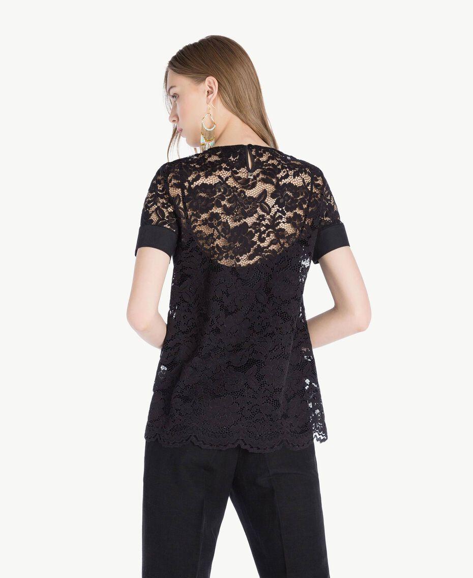 T-shirt dentelle Noir Femme TS828Q-03