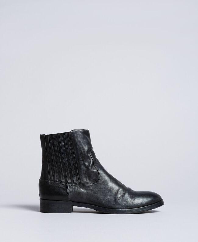 Leather beatles Black Woman CA8TKA-01