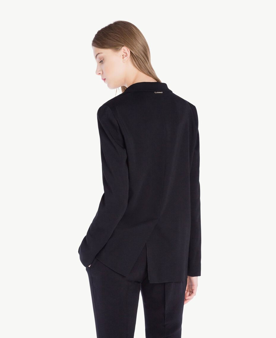 Georgette jacket Black Woman PS8256-03