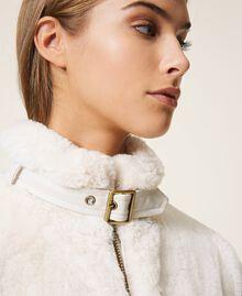 Faux fur jacket Creamy White Woman 202MP203A-05