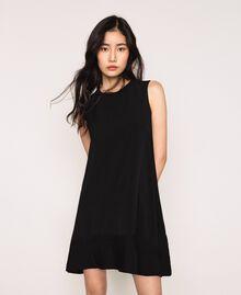 Платье с жоржетом и кружевом шантильи Черный женщина 201MP235B-01