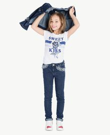 "Embroidered skinny jeans ""Mid Denim"" Blue Child GS82W1-06"