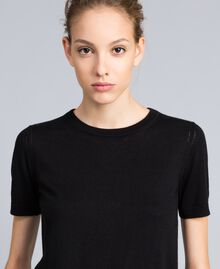 Silk and cashmere jumper Black Woman PA83GD-03