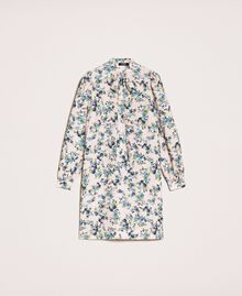 "Floral crêpe de Chine dress ""Quartz"" Pink Flowered Print Woman 201MP2374-0S"
