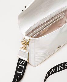 Mittelgroße Rebel Bag mit Logotrageriemen Weiß Schnee Frau 201TO823X-05