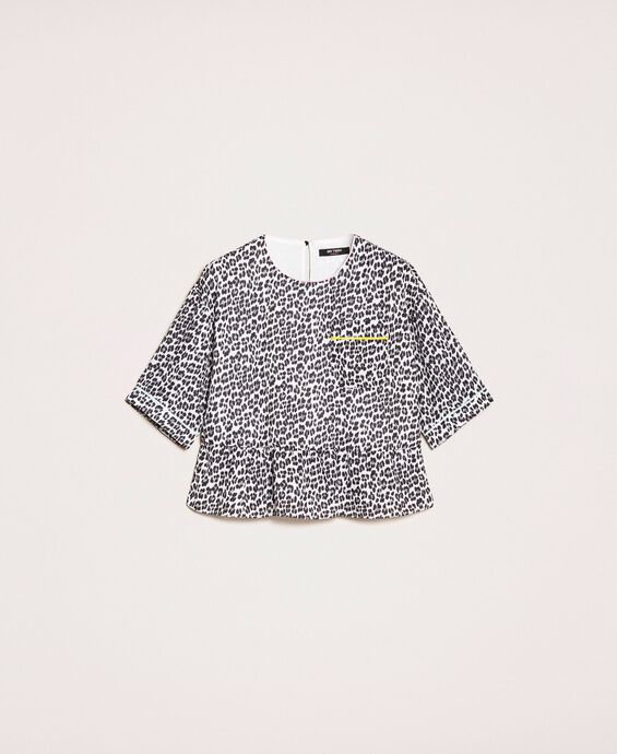 Blusa in georgette a stampa animalier