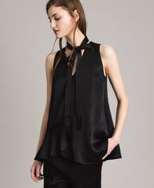 Flared top with bow Black Woman 191TP2696-01