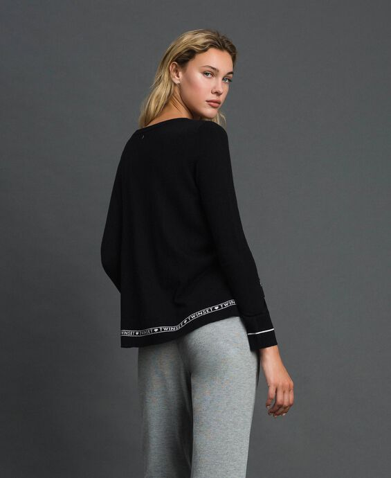 Silk and cashmere jumper with logo