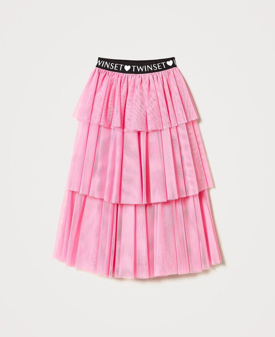 """Long tulle skirt """"Rose Bloom"""" Pink Child 211GJ2271-0S"""