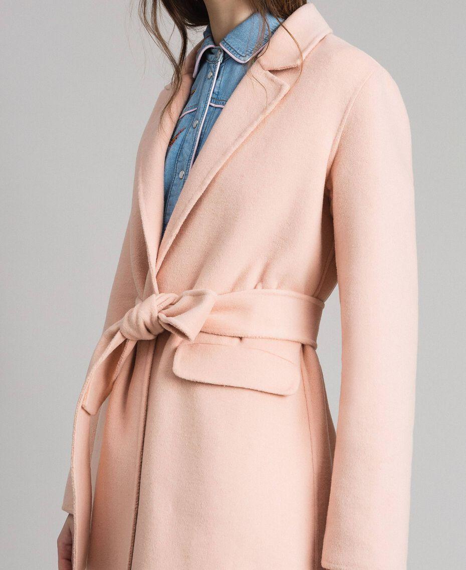 "Double wool cloth long coat ""Nude"" Beige Woman 191TP2480-06"