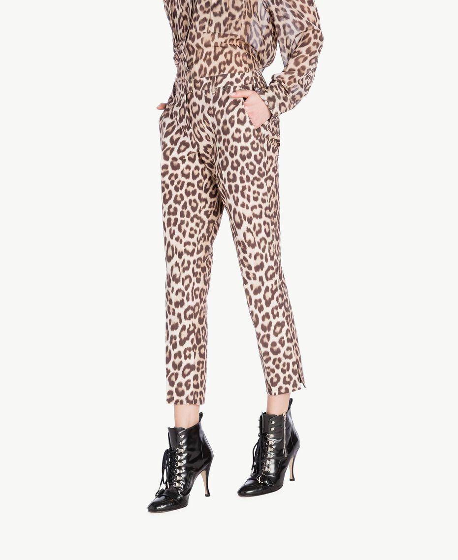 Animal print trousers Animal Print Woman PS824F-02