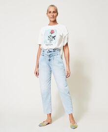 High waist jeans Light Denim Woman 211MT2580-03