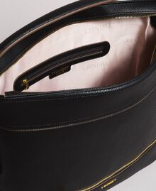 Faux leather hobo bag with tassel Black Woman 191TA7600-05