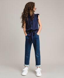 Satin-Trainingsanzug und Pullover im Denim-Look Indigo Kind 191GJ2382-0S