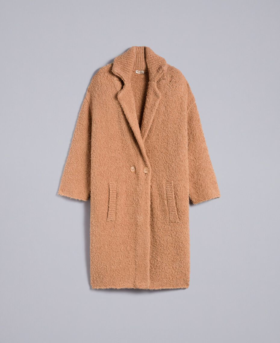 Manteau en fil bouclé Beurre Femme SA83CA-0S