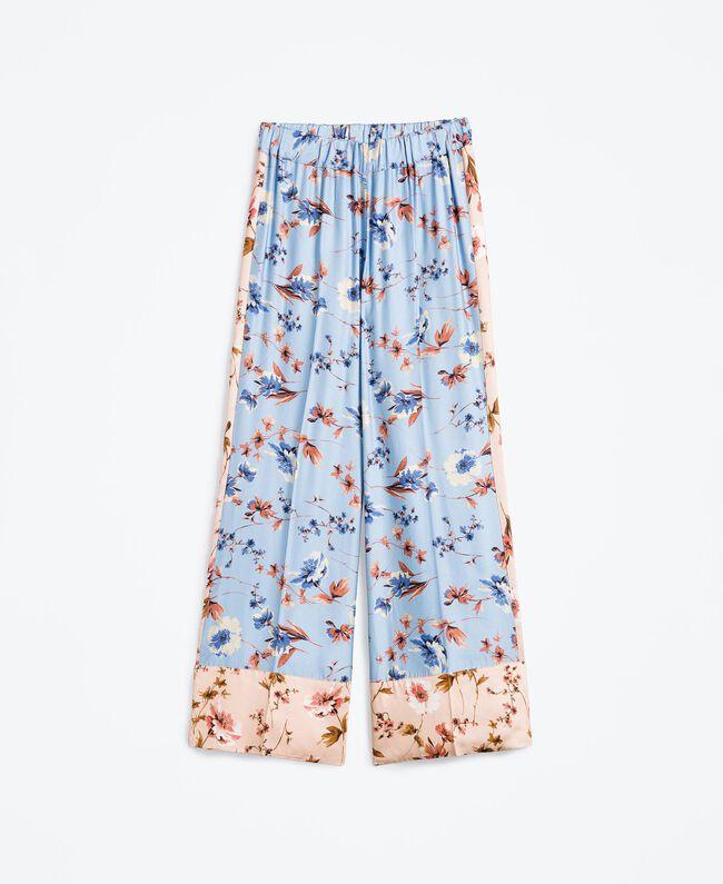 Широкие брюки с набивным цветочным рисунком Набивной Розовый Цветочная Смесь женщина IA8EXX-01