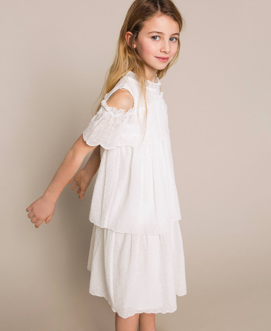 Broderie anglaise dress Off White Child 201GJ2QB0-02