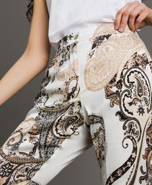"Paisley print palazzo trousers ""Milkyway"" Beige / Paisley Print Woman 191LM2SAA-05"