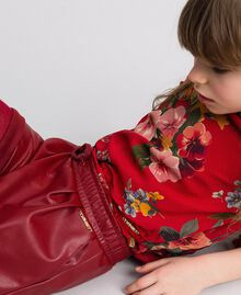 Faux leather shorts Ruby Wine Red Child 192GJ2012-04