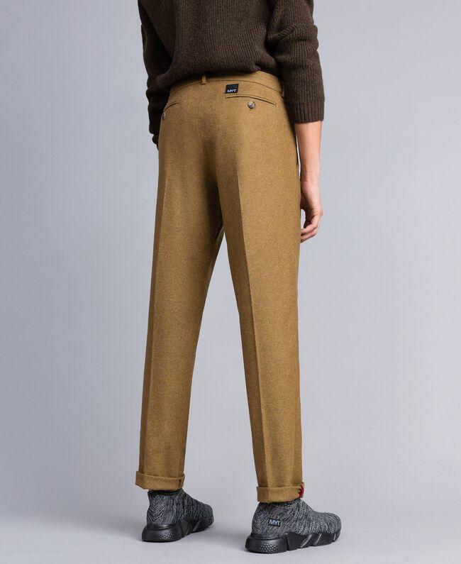 Pantalon en flanelle Marron «Toffee» Chiné Homme UA82C1-04