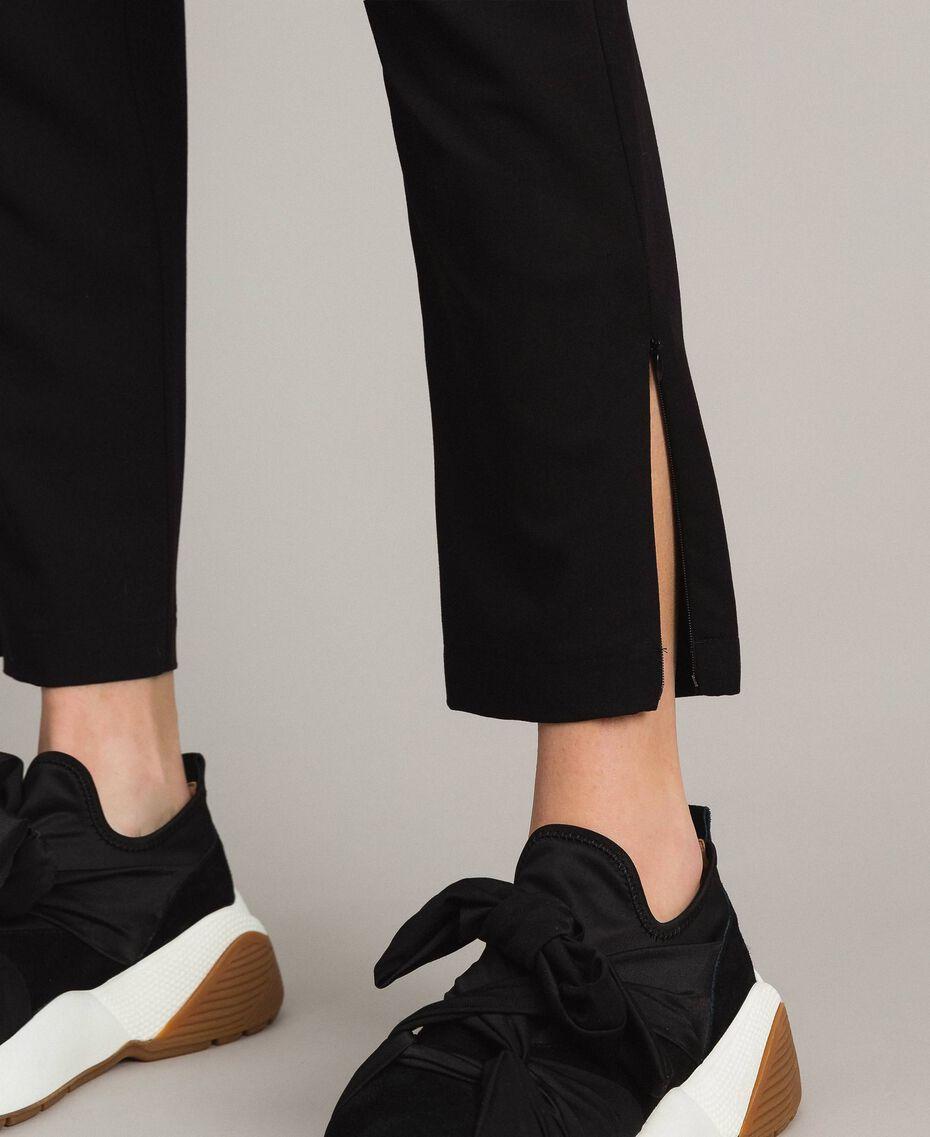Pantalon cigarette Noir Femme 191LL25AA-05
