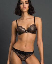 Laminated lace push-up bra Bronze Woman 192LL6H44-01