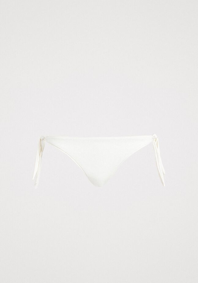 Bas de bikini tanga pailleté avec nœuds