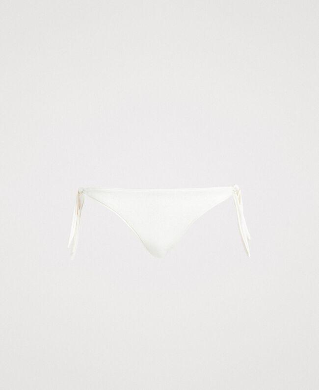 """Bas de bikini tanga pailleté avec nœuds Beige """"Voie Lactée"""" Femme 191LBM388-01"""