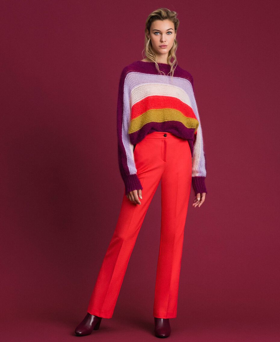 Technical wool trousers Pink Vegas Fuchsia Woman 192TT2450-02