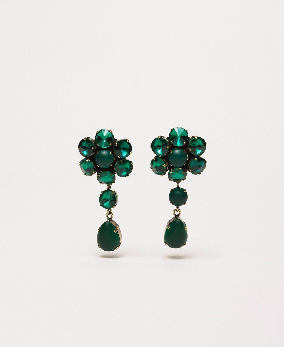 Boucles d'oreilles avec cabochons Vert «Green Jade» Femme 201TO5307-01