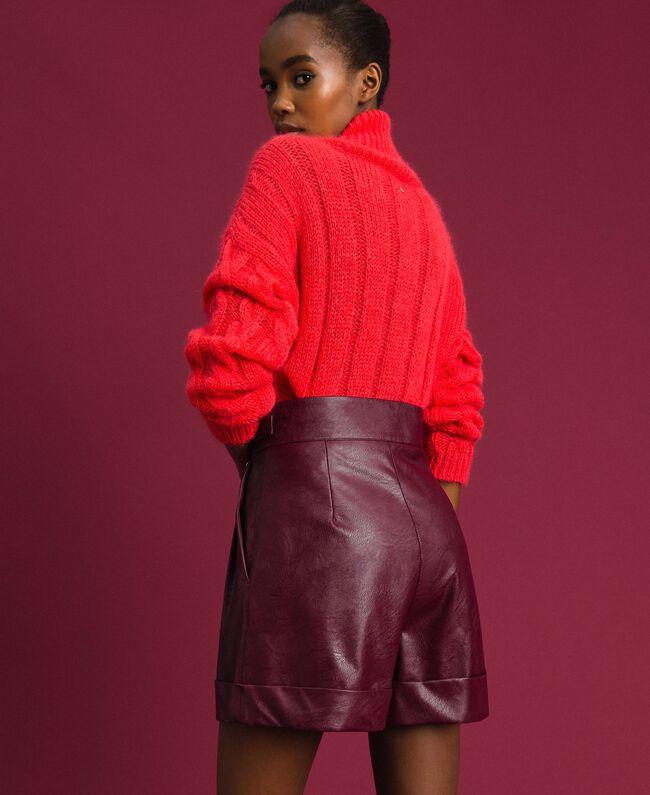 f5cee67f2e3221 Short en similicuir Femme, Rouge   TWINSET Milano