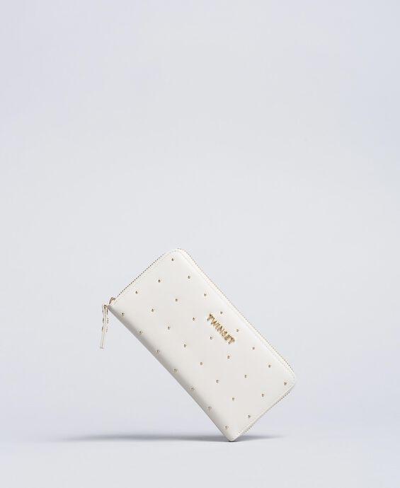 Portafoglio in pelle con borchie