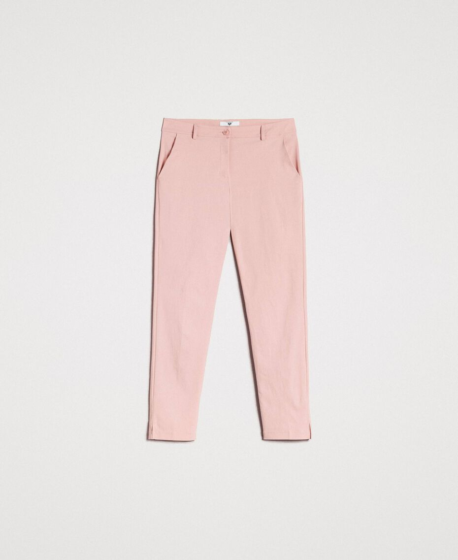 "Drainpipe trousers ""Pink Bouquet"" Woman 191LB22GG-0S"