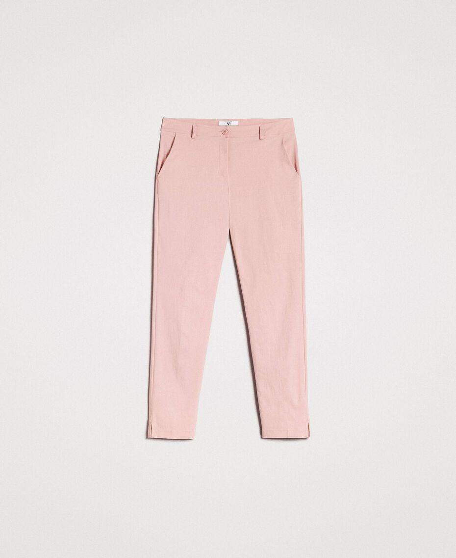 """Pantalon cigarette Rose """"Pink Bouquet"""" Femme 191LB22GG-0S"""