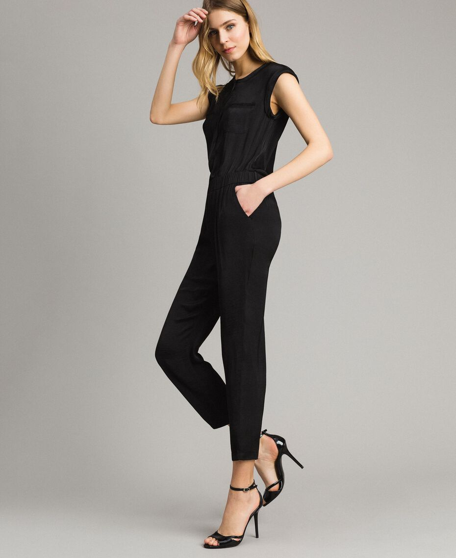 """Long jumpsuit with elasticated waistband """"Petra Sandstone"""" Brown Woman 191LM2GDD-02"""