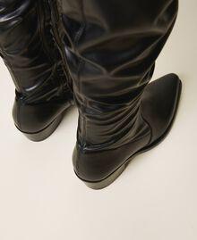 Cапоги-ботфорты с голенищем из ткани-стрейч Черный женщина 202TCP170-03