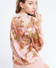 Blouse en twill avec imprimé floral Imprimé Rose Ballerines Fleur Femme LA8KPP-03