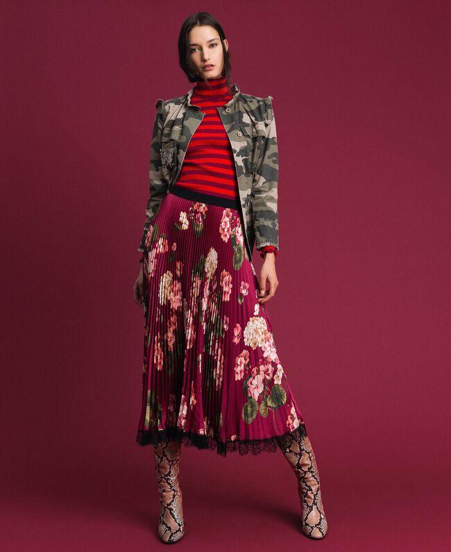Blouson avec imprimé camouflage et broderies Imprimé Camouflage Femme 192TP2032-0T