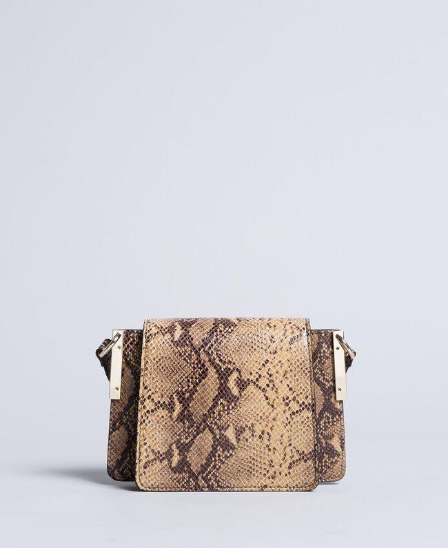 Sac à bandoulière en cuir animalier Imprimé Camel Serpent Femme AA8PG1-03