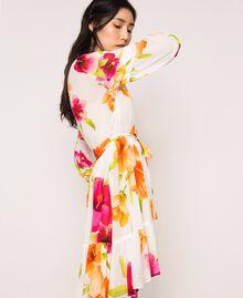 Vestido de georgette de flores Estampado Hibiscus Nieve Mujer 201TT2492-02