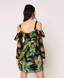 Robe imprimée avec découpe aux épaules Imprimé Summer Fruits Noir Femme 201TT2462-03