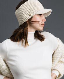 Fascia in maglia con visiera Bianco Vaniglia Donna 192MO5302-0S