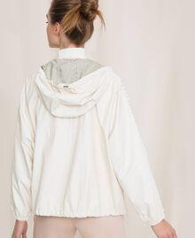 """Бомбер из искусственной кожи с вышивкой Белый """"Шелк"""" женщина 201ST2110-03"""