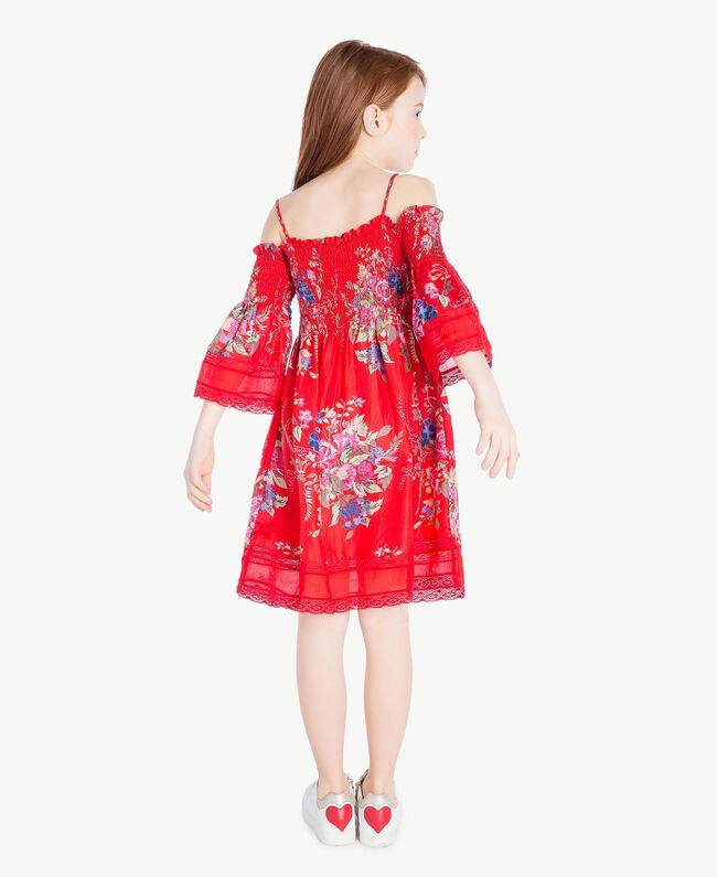 Robe fleurs Imprimé Fleurs / Rouge Grenadier Enfant GS82E1-04
